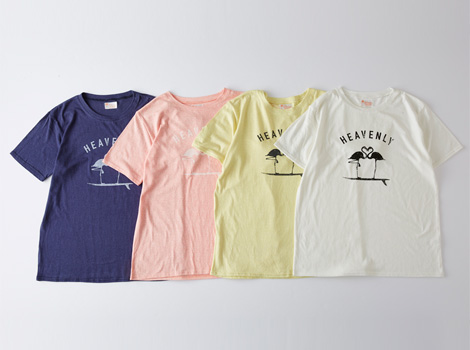 MENS FLAMINGOクルーネックTEE